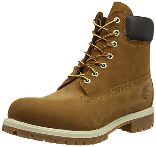 Timberland 6-Inch Premium Boot, Botas para Hombre, Marrón (Rust Nubuck), 42 EU
