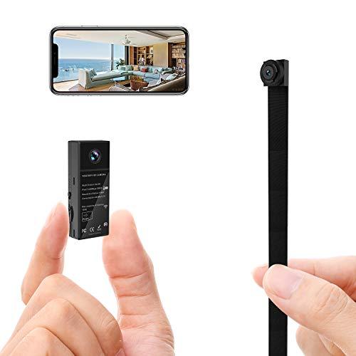 超小型カメラ、1080P HDミニカメラ、WiFiセキュリティカメラ、小型カメラ、持ち運びに便利、赤外線暗視、動き検出、ワイヤレス、連続録画、リモートモニタリング、DIYに適した屋内/屋外秘密監視カメラのミニカメラ レンズ