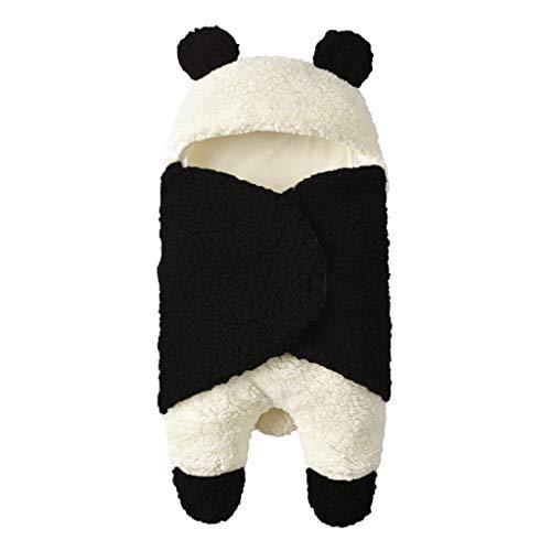 Manyo - Manta de forro polar para bebé (0-3 meses) panda Talla:21,65 x 11,42 in