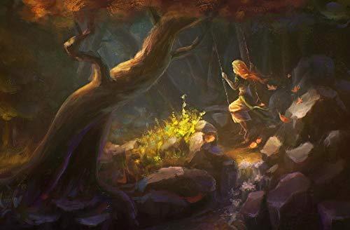 5Tdfc puzzle 1000 piezas madera adulto columpios de bosque de fantasía Juguetes educativos para niños, regalos para juegos de bricolaje