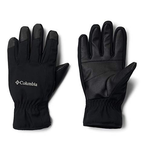 Columbia Men's Northport Insulated Softshell Glove, Black, Medium