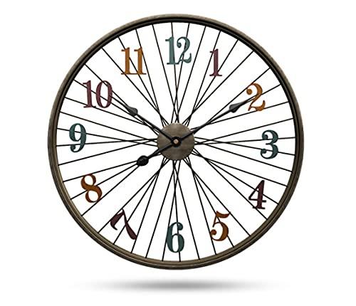 Reloj De Pared Café Bar Reloj De Metal Sala De Estar Reloj Silencioso