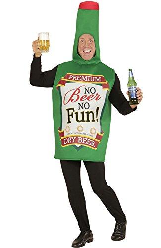 Party-Teufel Bierflasche Kostüm Männer Flaschenkostüm Aufschrift No Beer No Fun Einheitsgröße Herren Junggesellenabschied