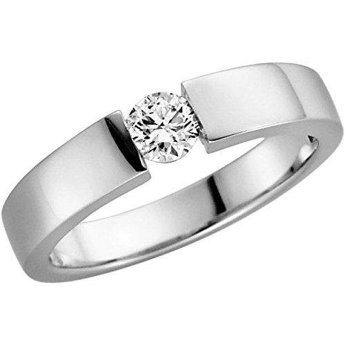 Verlobungsring mit Brilliant 0.25 ct w/si in Weißgold
