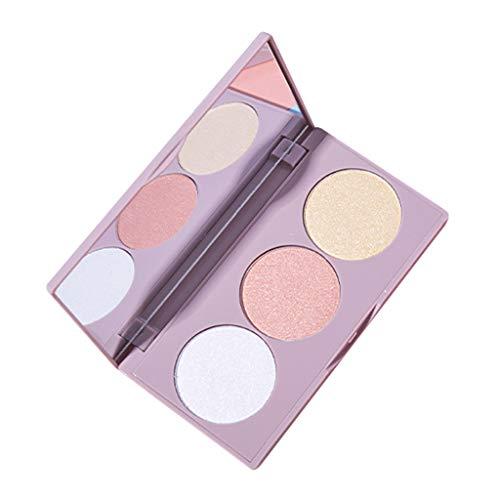 Toygogo 3 Farben Make Up Bronzer Contour Highlight Palette Langlebige Pudertöne