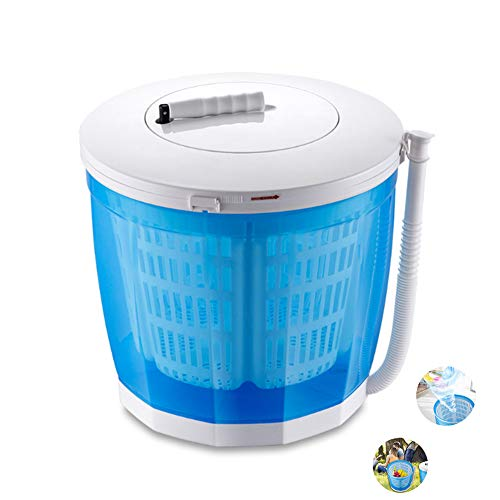Washers Portable Mini Washing Machine, Fast Dehydration Manual, with Folding Handle and Detachable Water Basket Home Picnic Vegetable Small Washing Machine