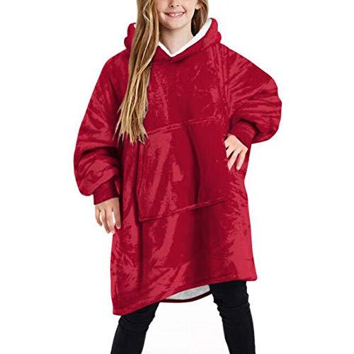 Shamdon Home Collection Oversize Hoodie Decke Kind, Mädchen Junge Kapuzenpullover Riesen-Sweatshirt, Super weich und bequem, Geeignet für Jugendliche