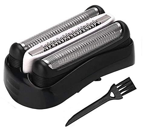 Poweka Pièce De Rechange 32B Noire Pour Bra-un les rasoirs Series 3 320 330 340 350CC Rasoir avec brosse de nettoyage libre - 32B Foil & Cutter