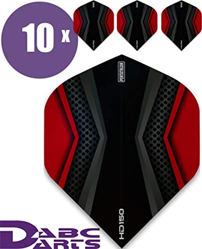 ABC Darts Flights - Pentathlon HD150 Xwing Rot - 10 sätz (30 stück Dart Flights)