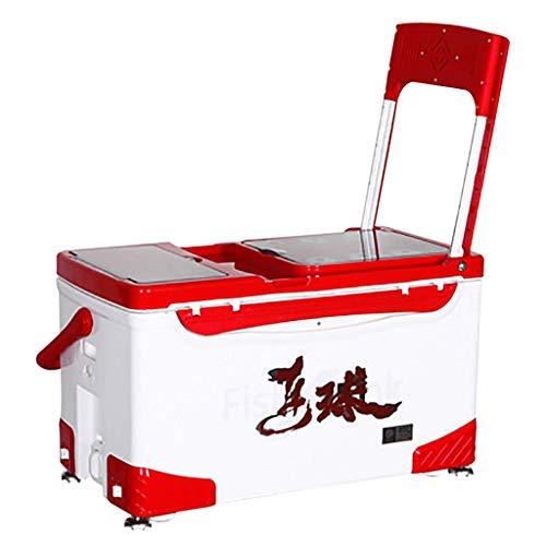 Accessoires Boîte de pêche avec siège 40 litres Boîte de pêche isolée Multifonctions de Grande capacité dissimulée dans Le Dos avec des engins de pêche Accessoires