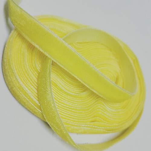 Zhi Zhi 10YARD / Lot Cinta de Terciopelo Multicolor para el Pelo Arco Regalo envolviendo la decoración de la Fiesta de la Boda Cinta de la Cinta de la Navidad (Color : Golden Yellow)