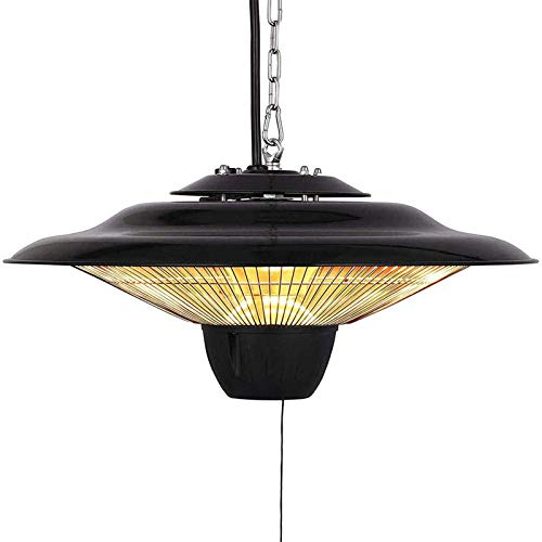 Byjia Electric Patio Heater, Outdoor Patio Hanging Heater 2500W Infrared Halogen Tube, Outdoor Garden Ceiling Mounted Heater