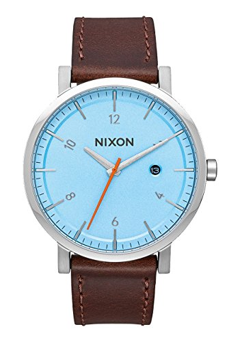 Nixon Herren Analog Quarz Uhr mit Leder Armband A945-2547-00