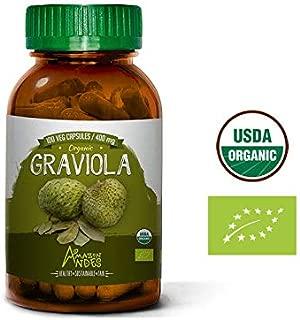 Graviola Powder Capsules - 100 Pills * 400 mg - Soursop Organic - Supplement from Peru - Vegan - Amazon Andes