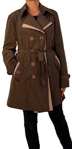 Perano 5220 Trenchcoat damesjas mantel S M L XL beige bruin zwart!