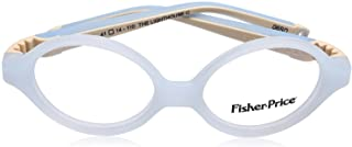Fisher-Price FPV30 Contrast Temples Oval Medical Glasses for Kids - Off White and Light Blue