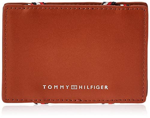Tommy Hilfiger Herren Flip Cc Holder Münzbörse, Braun (Cognac), 1x6.5x10 cm