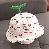 mlpnko Baby Hut Dünnschliff 6-12 Monate Baby süßes Baby Fischer Hut Mädchen Sonnenschirm Hut rot 47-50cm