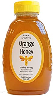 Smiley Honey - Raw, Unfiltered, Organic Orange Blossom Honey (16 oz)