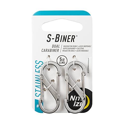 Nite Ize Karabiner S-Biner Stahl GR 1, silber, NI-SB1-2PK-11