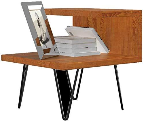 Beistelltisch Bücherregal Regal, BedFloor stehende Beistelltisch, Eisen, Holz Nachttisch Bodenstehende Beistelltisch/Ecke Montage und Lagerung Schlichte (Color : Rosewood)
