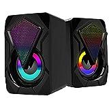 ODOUKEY Altavoces J2 del Ordenador con el Cable USB Gaming Audio Home Audio portátil de Escritorio Tablet Negro