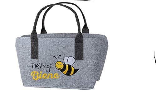 GILDE Filztasche Einkaufstasche Tasche Fleißige Biene 40x26x25cm