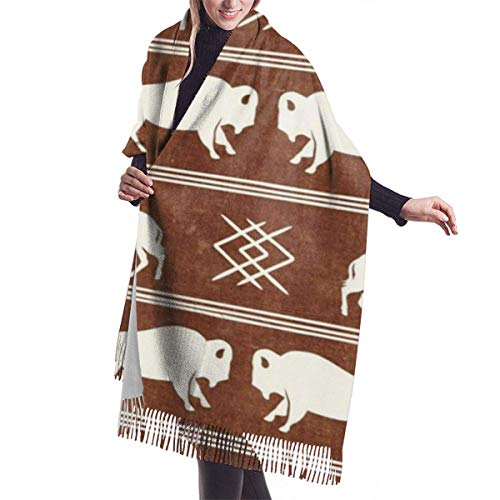 shenguang Chales abrigos Bison Stripes Aztec Southwest Boho Buffalo Brandywine Women's Oversiz Shawl or Warm Wrap Winter Scarves Blanket Scarf...
