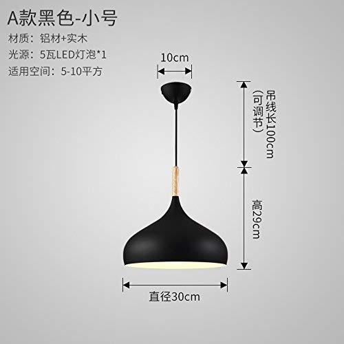 ERD Gzz Deng Home buitenverlichting hanglampen Moderne eenvoudige Europese stijl restaurant bar slaapkamer Japanse stijl hout kleding zwart 30X29cm