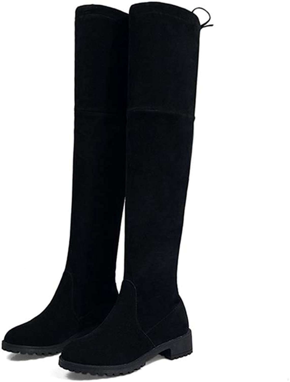 T-JULY High Boots Female Winter Boots Women Over The Knee Boots Flat Stretch Sexy Fashion shoes