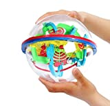 Intellect 3D Maze Ball with 100 Challenging Barriers 3D Labyrinth Ball for Kids 3D Puzzle Toy Magical Maze Ball Brain Teasers Puzzle Ga Best Gift Independent Play for Children 7-15 Years