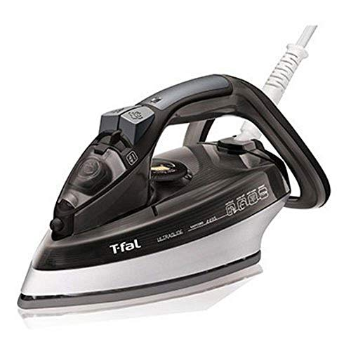 T-fal FV4495 Ultraglide Easycord Steam Iron Ceramic Scratch Resistant Non-Stick Soleplate with Auto-Off and Anti-Drip System, 1725-Watt, Black, Medium