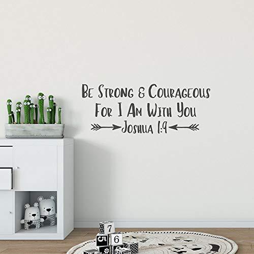 Adhesivo decorativo para pared, diseño de Joshua 1:9 Be Strong and Courageous
