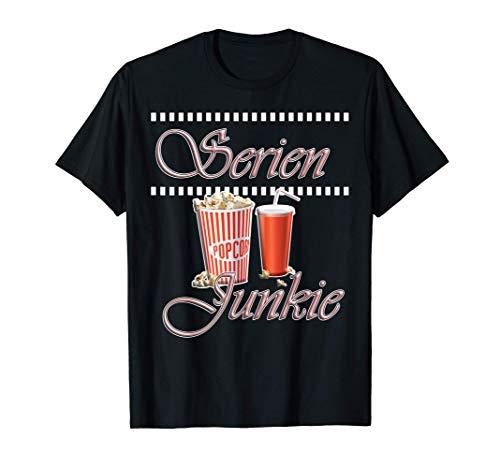 Serien Junkie coole schwarz rosa Schrift Lustige Sprüche T-Shirt