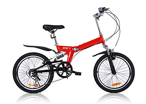 TechStyle Foldable Bike, 20 Inch Comfortable Mobile Portable Compact...