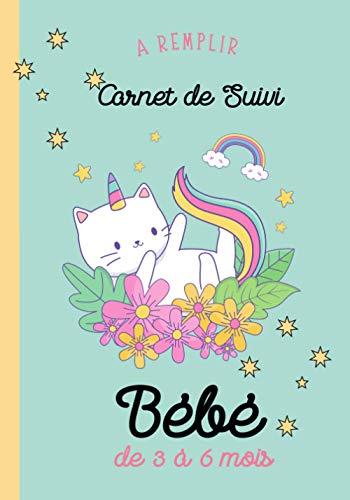 Carnet de Suivi Bébé 'Chat Licorne' - A REMPLIR - Cadeau...