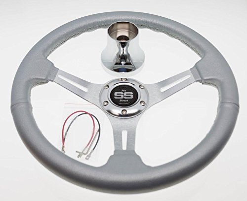Lowest Prices! Yamaha Drive(G29) and G16-G22 Silver Steering Wheel with Hub Adapter