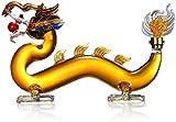 Mottled Sky Zodiac Bottle, Dragon Zodiac Bottle,Dragon Design Whiskey Decanter,High Borosilicate Glass Wine Bottle, Wine Gift