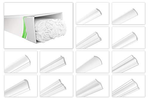 HEXIMO Deckenleisten aus Styropor XPS - Hochwertige Stuckleisten leicht & robust im modernen Design - (20 Meter Sparpaket ZG16-45x45mm) Stuckprofil Zierprofil Eckprofil Styroporprofil Winkelprofil