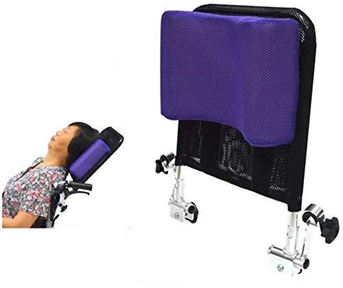 """DXYAN Rollstuhl Kopfstütze Nackenstütze Bequeme Sitzrückenkissen Kissen Adjustable Polster für Erwachsene tragbare Universal-Rollstuhl-Zubehör, 16 """"-20"""", Schwarz,Lila"""