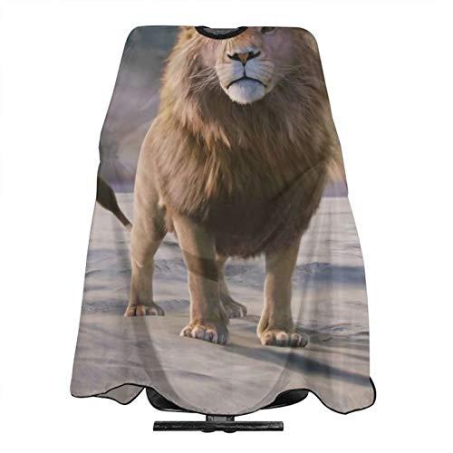 Lion Movie Die Chroniken von Narnia, der Löwe, die Hexe und der Kleiderschrank, Haarschneide-Schürze, Umhang, Barbier-Umhang, wasserdicht, für Erwachsene und Kinder mit verstellbarem Verschluss