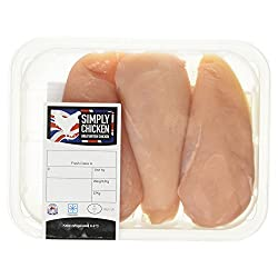 Simply Chicken British Skinless Breast Fillets, 540g