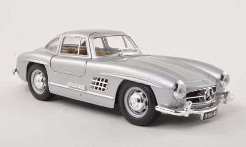 Mercedes 300 SL (W198), silber , 1954, Modellauto, Fertigmodell, Bburago 1:24