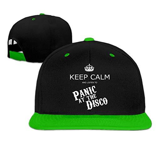 YVES Baseball Cap Hiphop hoed Paniek bij The Disco Keep Calm Cap Rood (5 Kleuren) Groen