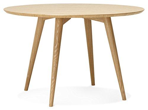 Kokoon Janet Table à Diner Design en, Bois, Beige, 120x120x75 cm