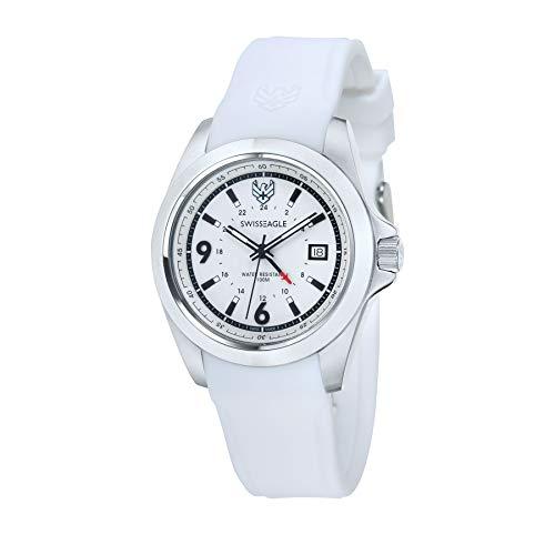 SWISS EAGLE SE-9066-01 - Reloj para Hombres, Correa de Silicona