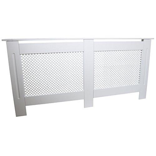 Heizkörperverkleidung, weiß lackiertes MDF-Holz, Gitterrost, Moderne Heizung, für Möbel, Schrank, Regal, 1720 mm