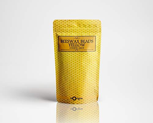 Perles de cire d'abeille jaune de qualité cosmétique 100g
