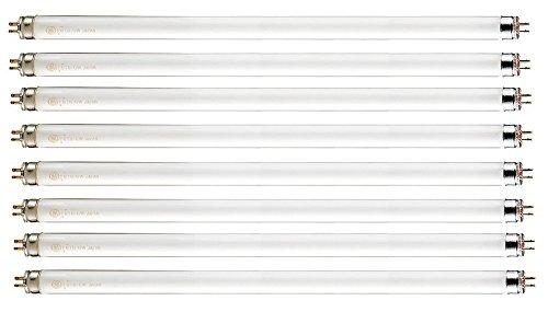 Pack of 8 F14T5/841 14 watt 22.125' Straight F14 T5 Mini Bi-Pin (G5) Base, 4,100K Cool White Octron Fluorescent Tube Light Bulb