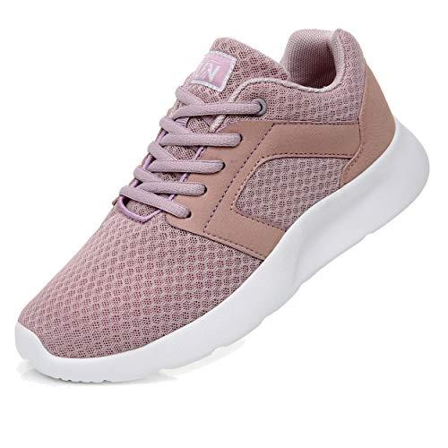 Axcone Zapatillas Hombres Mujer Deporte Running Zapatos para Correr Gimnasio Sneakers Deportivas Padel Transpirables Casual PK 36EU